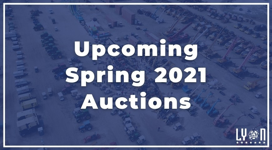 Upcoming Spring 2021 Auctions