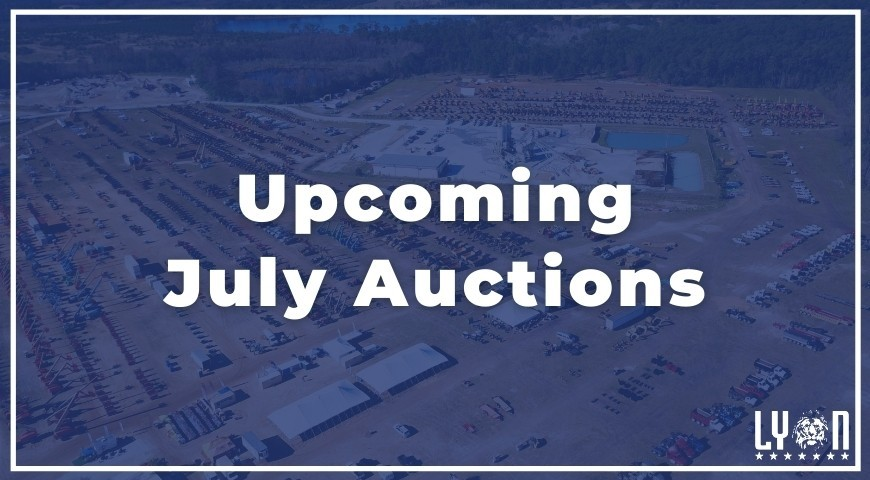 Upcoming July Auctions